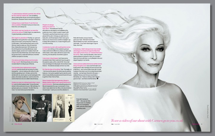 Carmen Dell'Orefice for You Magazine 2013-003 5