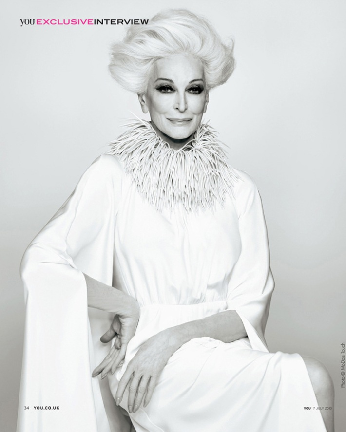 Carmen Dell'Orefice for You Magazine 2013 1