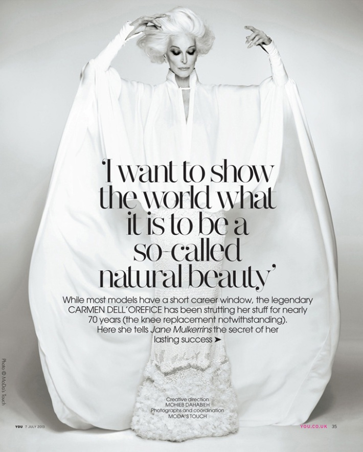 Carmen Dell'Orefice for You Magazine 2013 2